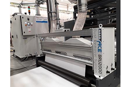 BRU2000 rimozione polveri efficace nella stampa su cartone